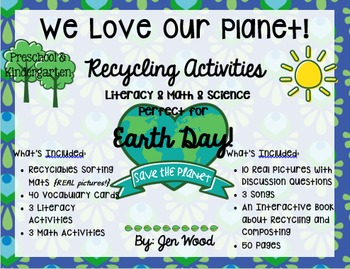 We Love Our Planet - Recycling Activities for EARTH DAY!