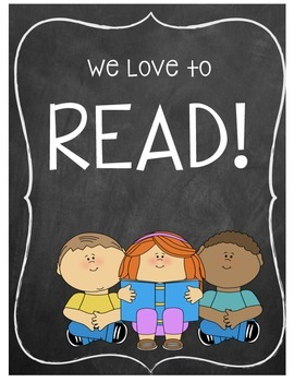 We Love To Read Classroom Poster