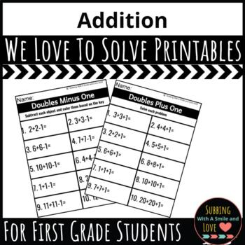 We Love To Solve: Addition Ready-To-Go-Pack