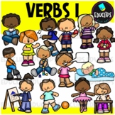 We Love Verbs Clip Art {Educlips Clipart}