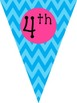 We Love __ Grade Banner (Grades 1-5) {Chevron}