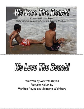 We Love the Beach! Half page Book