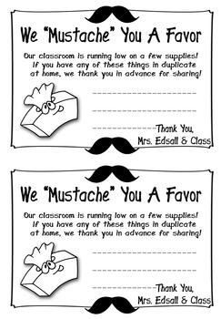 We Mustache You A Favor