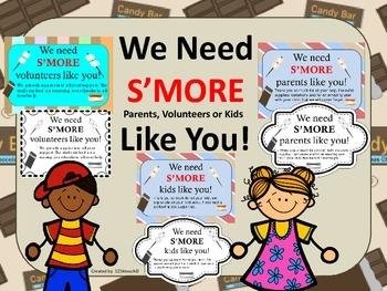 We Need S'MORE (Parents, Volunteers or Kids) Like You!