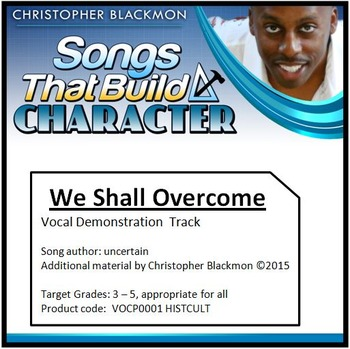 We Shall Overcome Music, Lesson and Karaoke Video