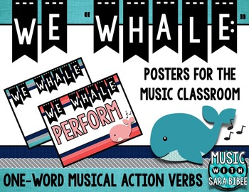 "We ""Whale"" One-Word Musical Action Verb Posters"