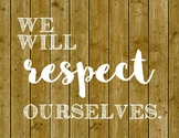We Will Respect Posters