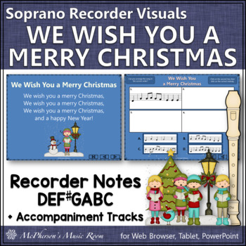 We Wish You a Merry Christmas - Recorder PowerPoint Visual