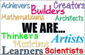 """We are"" Inspirational Classroom Poster"