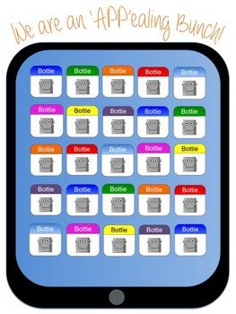 """We are an 'APP'ealing Bunch"" Bulletin Board (iPad, iPhone"