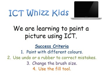 We are learning to paint a picture using ICT Where The Wil
