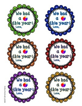 We had a ball! End Of Year Gift Tags