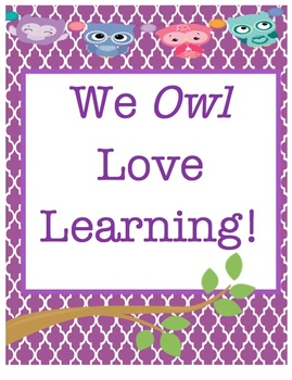 We owl love learning- classroom pack!