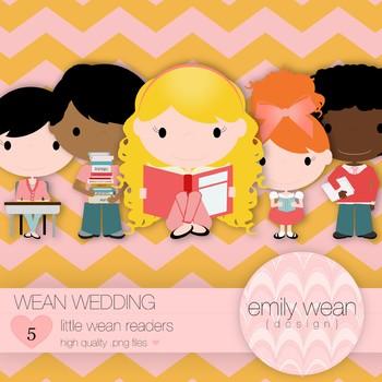 Wean Wedding - Little Readers Clip Art