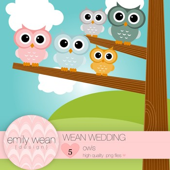 Wean Wedding - Owl Clip Art