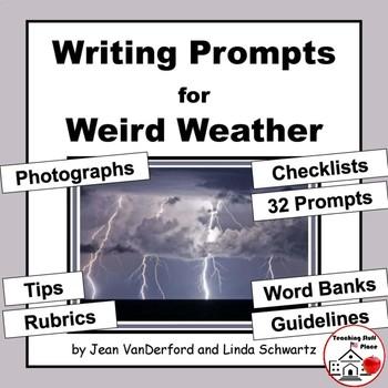 CREATIVE WRITING PROMPTS | WEATHER | Rubrics | Checklists