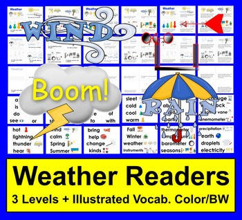 Weather Readers:  Differentiated with 3 Levels!