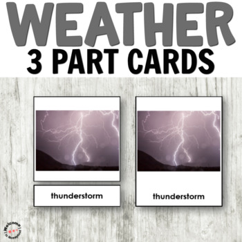 Weather 3 part cards