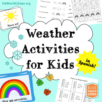 Weather Activities for Kids ~ Spanish: Seasons, Temperatur