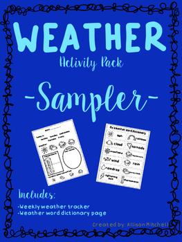Weather Activity Pack-Sampler