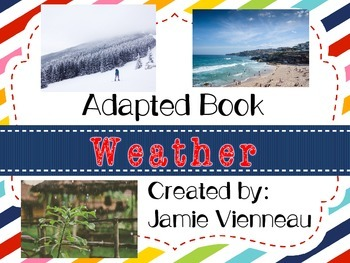 Weather Adapted Book for Early Childhood and Special Educa