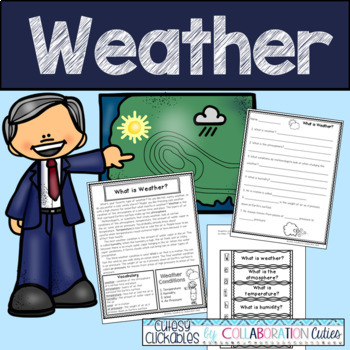 Weather Articles, Flip Books, Comprehension Questions, and
