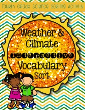 Weather & Climate Vocabulary Sort