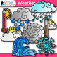 Weather Clip Art {Teach Climate, Erosion, and the Water Cy