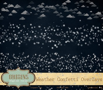 Weather Clipart Confetti Overlays