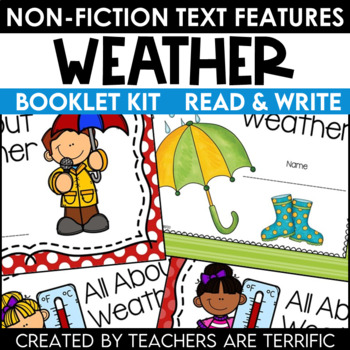 Weather Creating a Non-Fiction Text Features Booklet