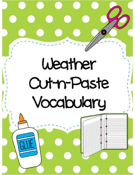 Weather Cut-n-Paste Vocabulary