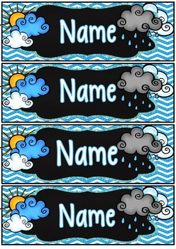 Weather Desk Name Tags