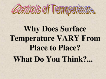 Weather Forecasting:  Air Temperature-Why It Changes PowerPoint