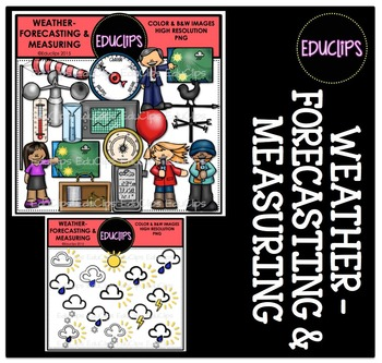 Weather Forecasting and Measuring Clip Art Bundle {Educlip