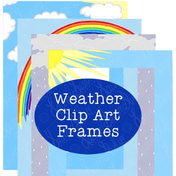 Weather Frames Clip Art PNG JPG Commercial or Personal Rai
