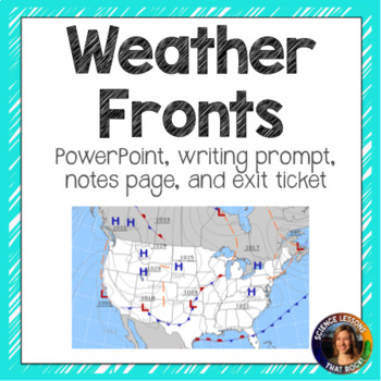 Weather Fronts SMART notebook presentation