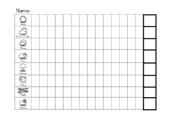 Weather Graph (black & white)