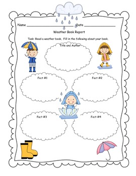 Weather Graphic Organizer and Informational Writing Activi