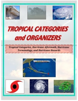 Weather:  Hurricane Organizers (GREAT for SPED, Games, or