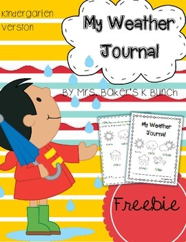 Weather Journal Freebie