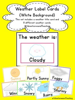Bright & White Weather Label Calendar Cards {Simple}