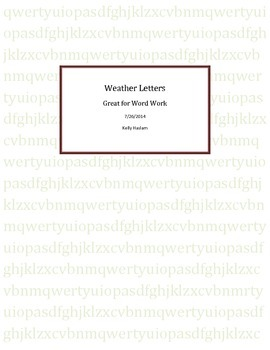 Weather Letters