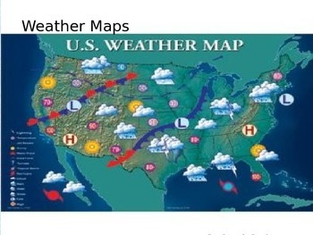 Weather Maps -POWERPOINT WITH NOTES  4th Grade Science