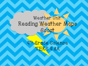 4th Grade Weather Maps Task Cards