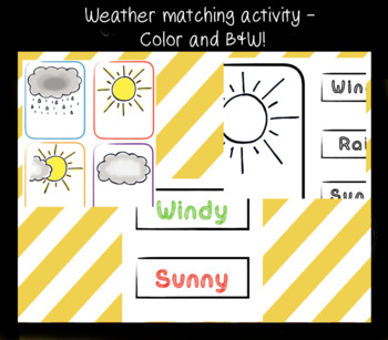 Weather Matching Activity - Color and B&W