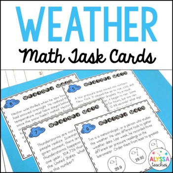 Weather Math Task Cards *Cross-Curricular* (SOL 4.6)