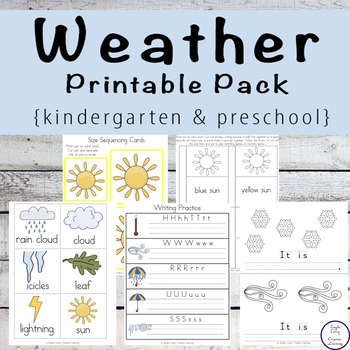 Weather Pack - Tots to Prep