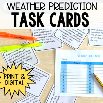 Weather Prediction Task Cards
