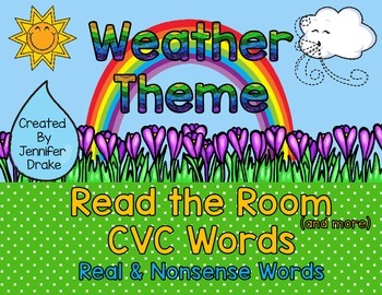 Weather Read the Room CVC Words