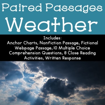 Weather Reading Comprehension Paired Passages